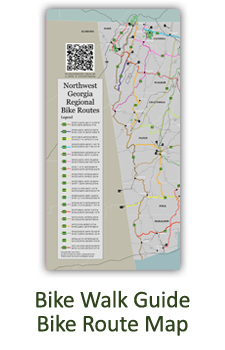Bike Walk Guide's Regional Bike Route Map